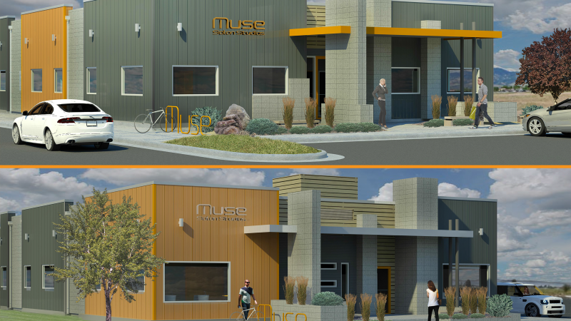 Exterior Rendering of Muse Salon Studios